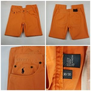 Ralph Lauren Polo Men Jean Sz 30 × 30 Orange
